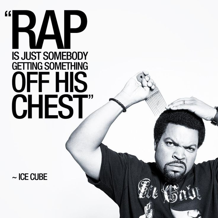 """""""Rap is just somebody getting something off his chest"""" ~Ice Cube #icecube #ice…"""