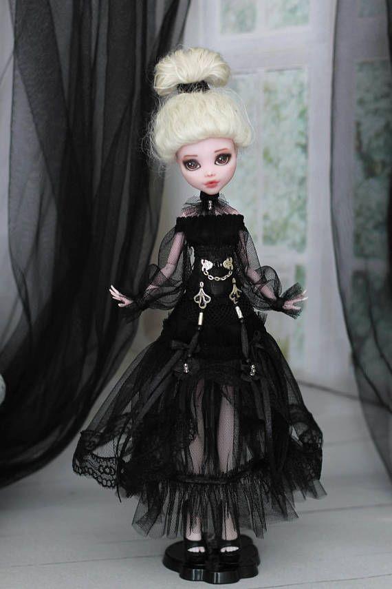 Gothic-Kleid mit Korsett für Monster High/EverAfterHigh