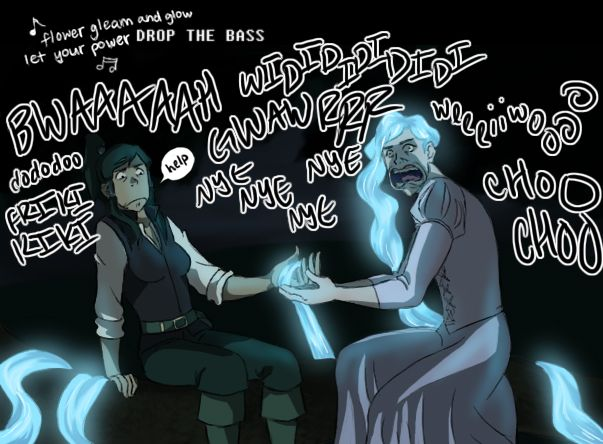 Tahnunzel healing Korra Rider with the power of the bass love