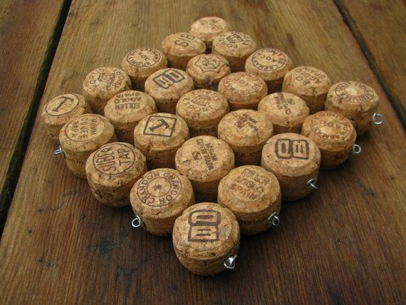Champagne top half of the corks made into a trivet