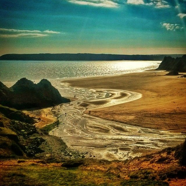 Three Cliffs Bay, Gower, Swansea, South Wales, UK