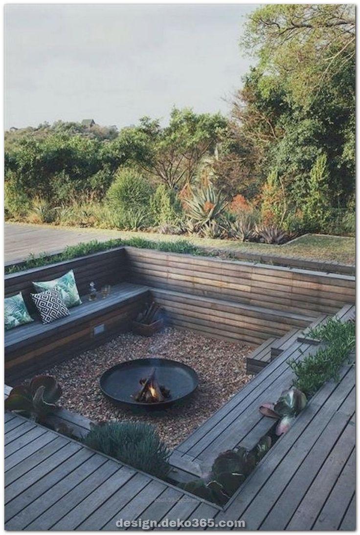 Fantastische Zauberhafte Designideen Zum Besten Von Die Feuerstelle Im Freien Backyard Backyard Seating Fire Pit Backyard