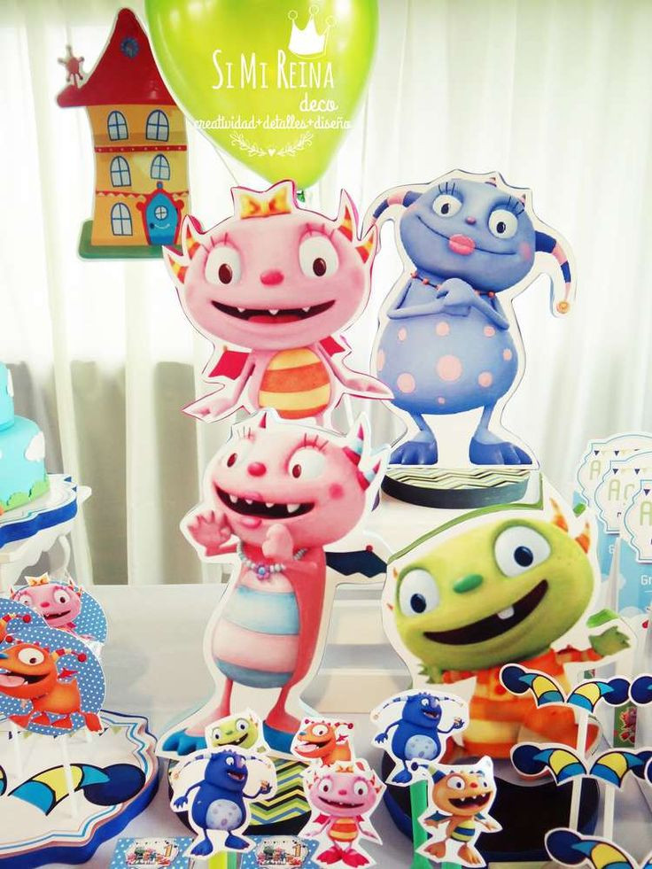 Fun Henry Hugglemonster birthday party! See more party planning ideas at CatchMyParty.com!