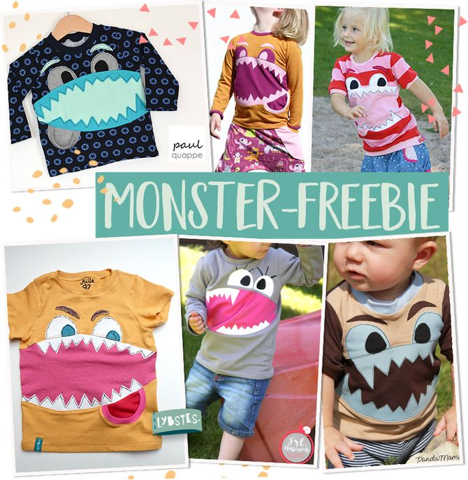 Die Monster kommen! Monster-Applikation + Plott als Freebie - Lybstes.