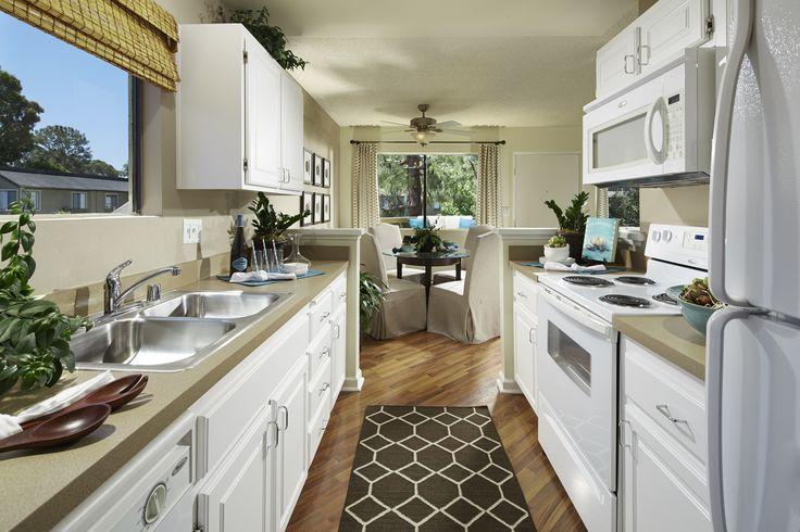 Upgraded interior finishes at Woodbridge Apartments in Irvine, CA.