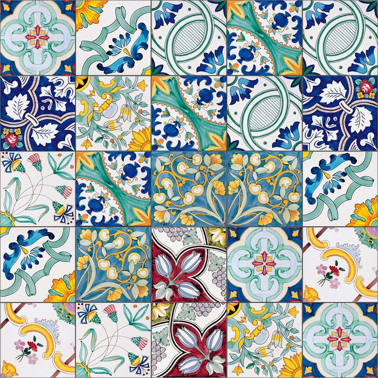 Ceramiche Musa Hand Painted Floor And Tiles Made In Italy: MÉLANGE '900 / BY FRANCESCO DE MAIO / MÉLANGE / YEAR 2015