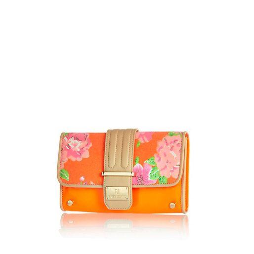 Orange floral print travel organiser #riverisland