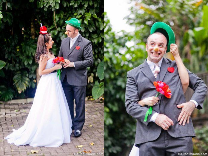 Casamento lúdico do casal de palhaços: Anabelly e André - Blog Aliança Rebelde, casamento colorido, circo, palhaços, noiva, noivo