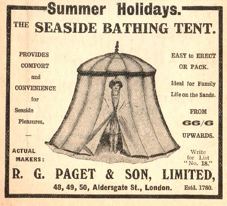 I rather like the look of this #vintage beach tent