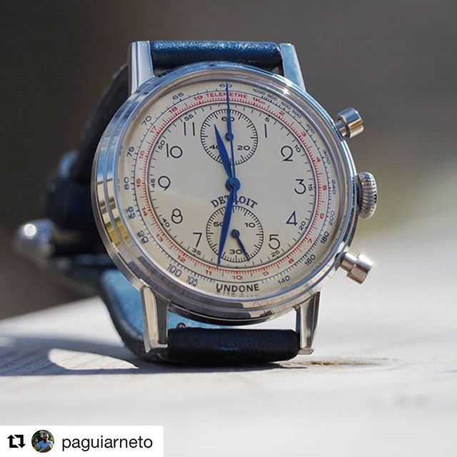 REPOST!!!  #Repost @paguiarneto with @repostapp ・・・ #StrapSaturday with the newest member of the family and this one is quite special! Undone Urban Killy design, what is special? That Detroit above the 6 o'clock position meaning the bond that my brothers and sister  from Detroit have developed over the years 😊. Ahhh that blue strap with a quick release doesn't suck either 😉. #UndoneWatches #IndividualityMatters  DETROIT 👊💥  Photo Credit: Instagram ID @undonewatches_ph
