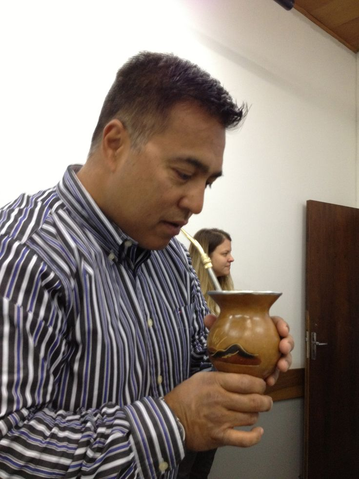VP, Fred Alejo also enjoying Yerba Mate from HQO's Yerba Mate growers in Brazil.