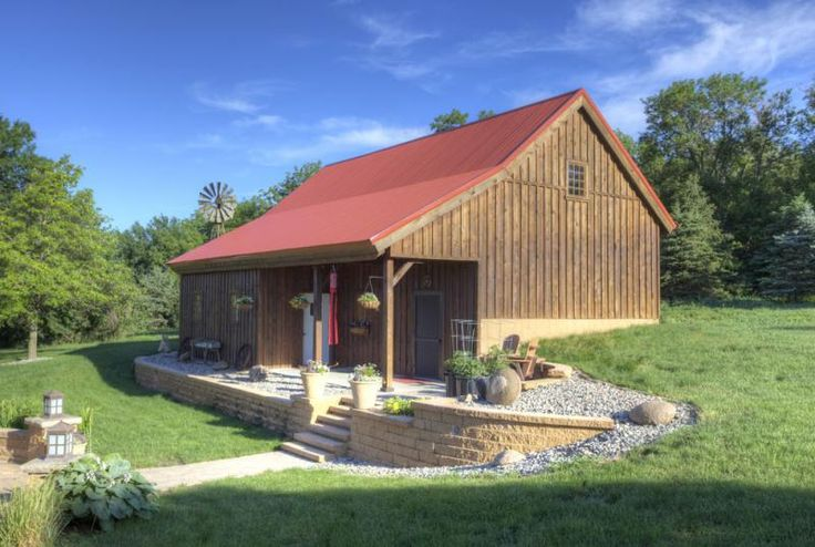 15 best images about retaining wall ideas on pinterest for Pole barn cabin