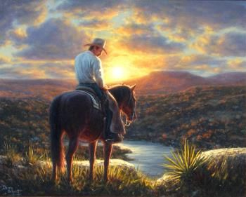 "Dennis Schmidt ""Sunset Ride"" - Southwest Gallery: Not Just Southwest Art."