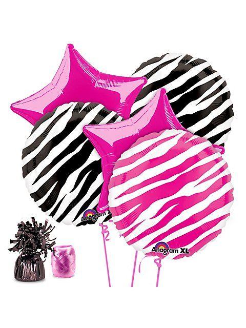 Zebra Party Balloon Kit