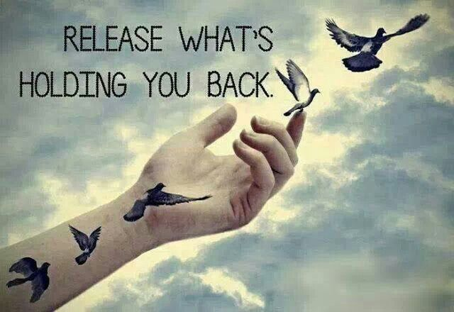 I like this...to remind me to release everything to God and to release everything that is holding me back!