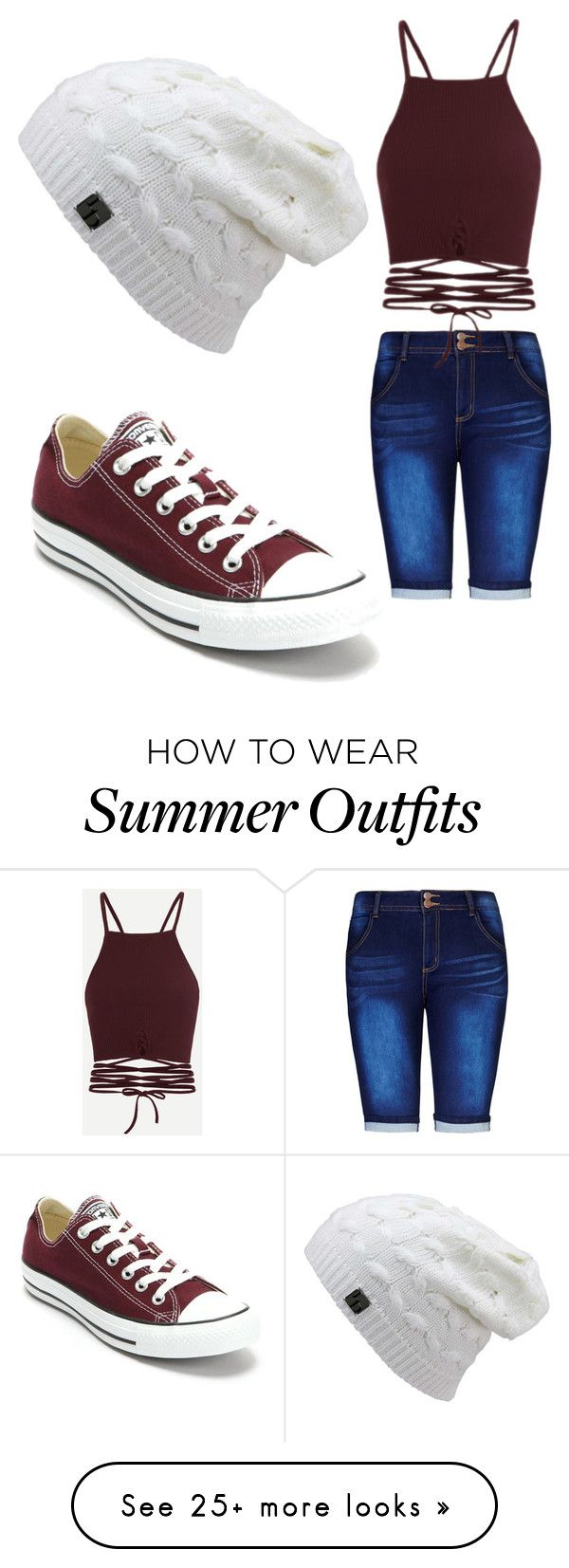 """Summer Outfit #2"" by angelica-segura on Polyvore featuring City Chic, Converse and plus size clothing"