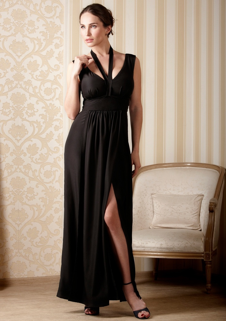 Evening maxi dress for women with large breasts   DDAtelier
