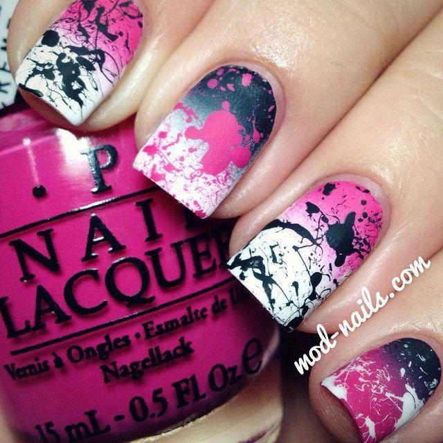 @modnails, Instagram, 3/18/15: splatter nails