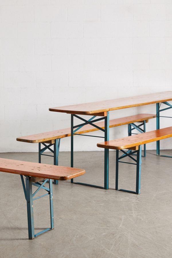 Urban Renewal Vintage Beer Garden Picnic Table Bench Set Table And Bench Set Picnic Table Bench Bench Table
