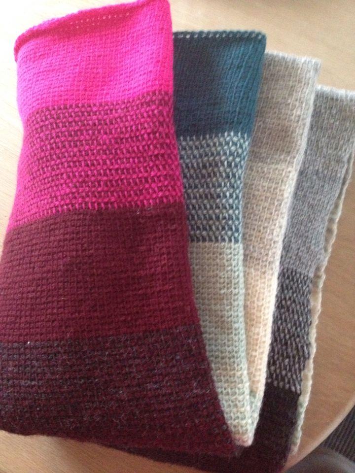Tunesisk hæklet tæppe i kauni garn mønster fra pescno
