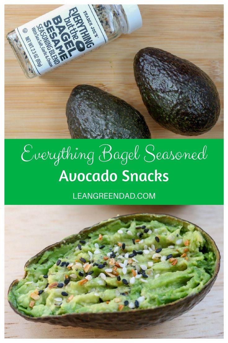 Everything But The Bagel Seasoned Avocado Snacks Lean Green Dad Recipe Avocado Snack Vegan Dinner Recipes Easy Vegan Recipes Easy