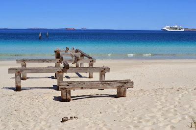 The remains of Newtown Jetty at Castletown Quays, Esperance, WA, Australia - Are Australia's best beaches in Esperance?   The World is Waiting