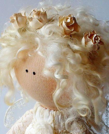 Купить Нежный ангел. - ангел, ангелочек, ангел-хранитель, ангелы, текстильная кукла