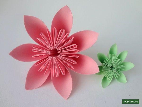 Цветы оригами I Схема оригами-цветка из бумаги