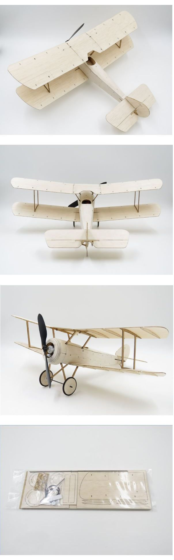 Airplanes 182182: Usa Sopwith Pup Balsa Wood 378Mm Wingspan Biplane Warbird Aircraft Rc Plane Kit -> BUY IT NOW ONLY: $89.99 on eBay!