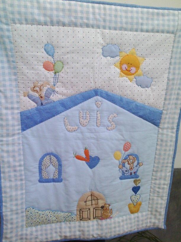 Colcha hecha por Pilar Moreno Carrascosa... con todo su amor para su sobrino Luis....