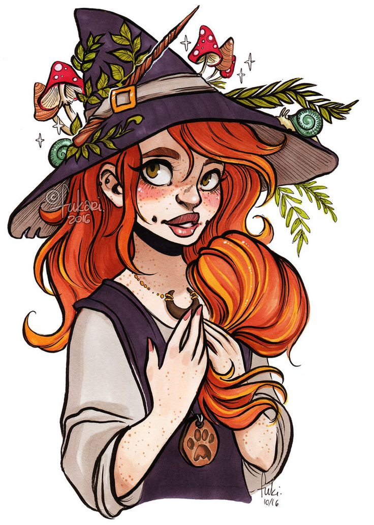 my OC Chelle as a witch Chelle loves gardening so as a witch she would grow lot of herbs for potions _ _ _ promarkers/fineliners/pentel brush pen _ _ _   support me and see more at my&nbs...