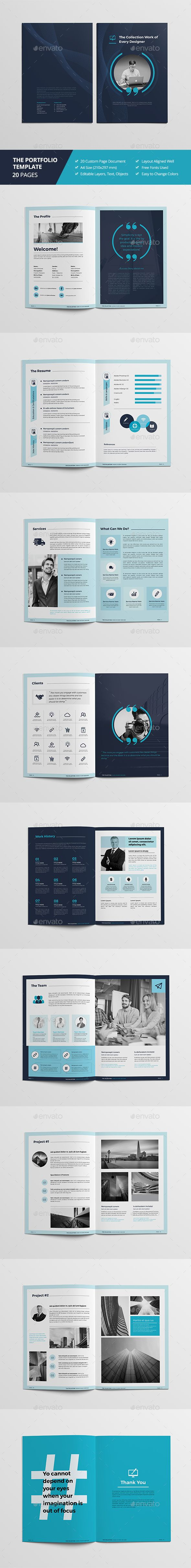 Haweya Portfolio Brochure — InDesign INDD #professional #identity • Download ➝ https://graphicriver.net/item/haweya-portfolio-brochure/19847352?ref=pxcr