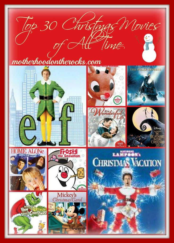 Top 30 Christmas Movies from Motherhood on the Rocks #tradition #christmas #movies #family