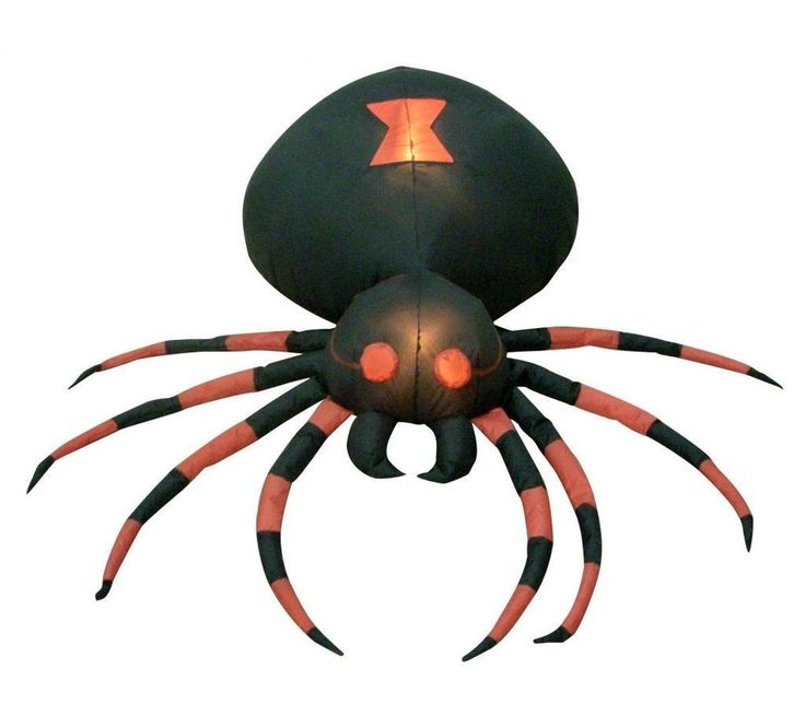 4 foot wide halloween inflatable black spider yard decoration free shipping