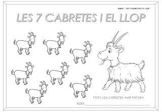 """Educació Infantil Brimar: CONTE """"LES 7 CABRETES I EL LLOP"""""""