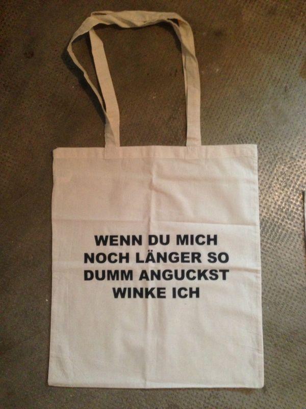 Stofftasche/Jutebeutel Winke Winke