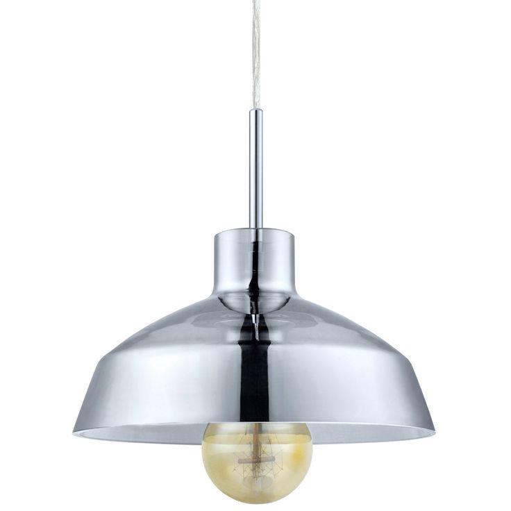 Eglo Brixham Smoked Glass Shallow Pendant Light