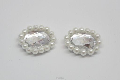 Crystal & Pearls - Klipsy, Spinki i Ozdoby do Butów, Dodatki do Obuwia - Coquet