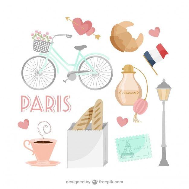Français Icons Collection Vecteur gratuit