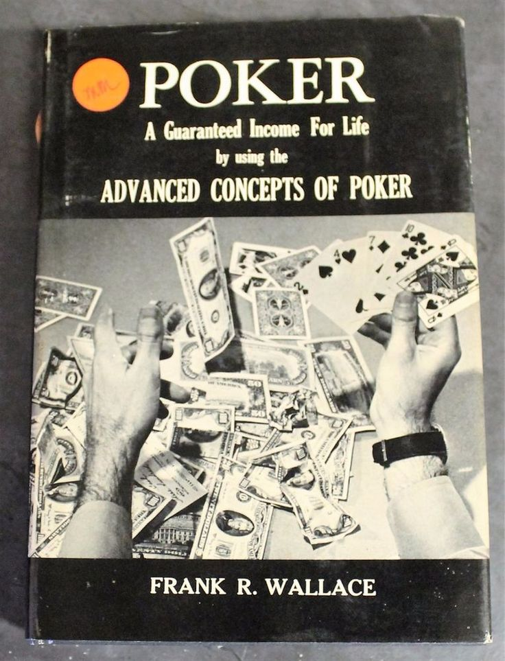 Poker Guaranteed Income for Life Frank Wallace HC/DJ 1972 Advance Concepts Cards