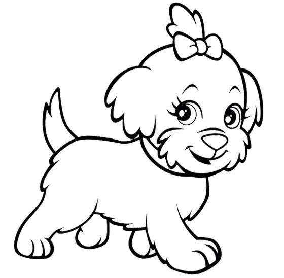 Polly Pocket Dog Funny Coloring Page