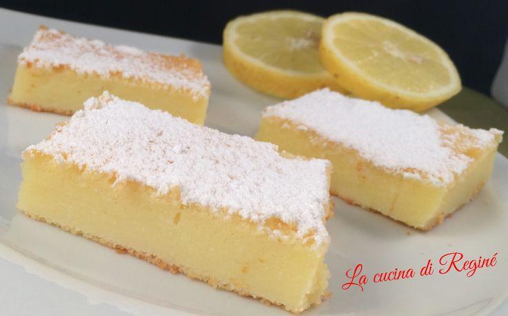 Mattonella dolce di ricotta yogurt e limone
