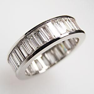Estate Eternity Style 5+ Carat VS Baguette Diamond Wedding Band Ring Solid 14K White Gold - EraGem