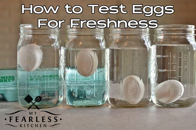Are These Eggs Fresh? from My Fearless Kitchen. Have you ever wondered how old those eggs in your refrigerator are? You can quickly and easily test eggs for freshness, and never wonder again!