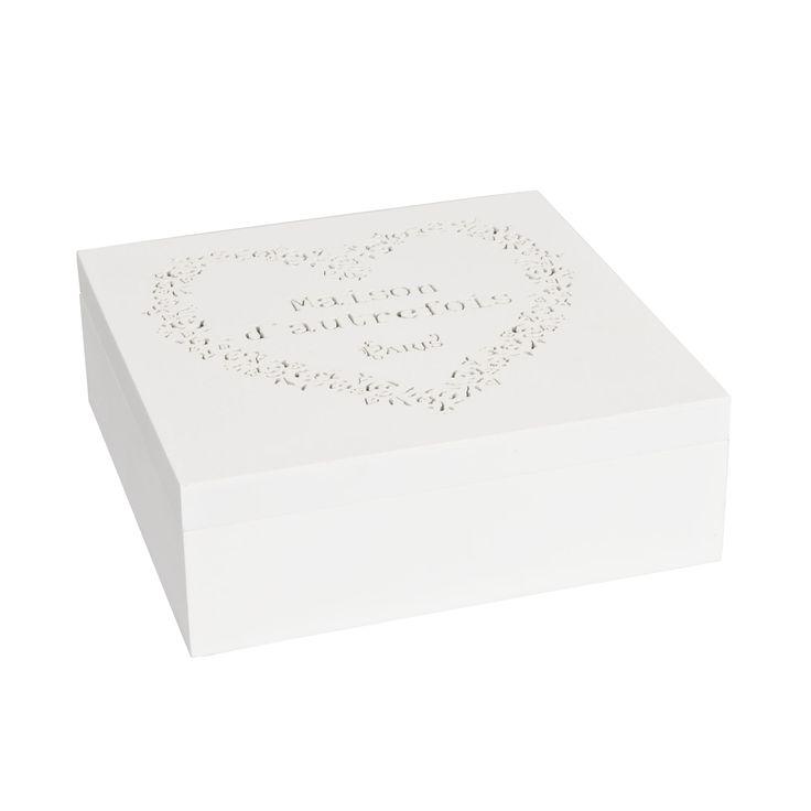 #scatola #tè #legno #bianco