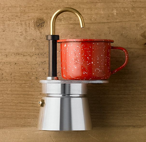 So neat! Mini Espresso Maker from Restoration Hardware. For the Home Pinterest Stove ...