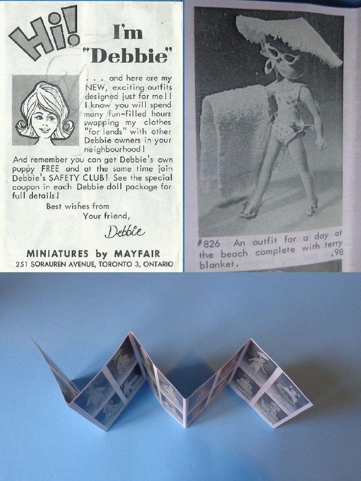 "Vintage Mayfair 8"" Debbie Doll 1950 Pamphlet Print ULTRA RARE Canada Hong Kong #Mayfair"