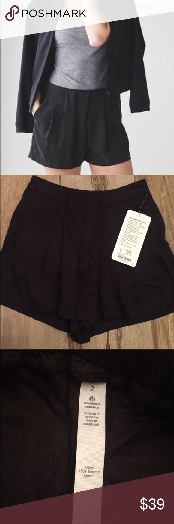 Lululemon Keepsake Short size 2 Super cute, relaxed, light weight shorts from Lululemon. Would be great for golf, tennis, jogging or casual wear! Size 2- black. lululemon athletica Shorts