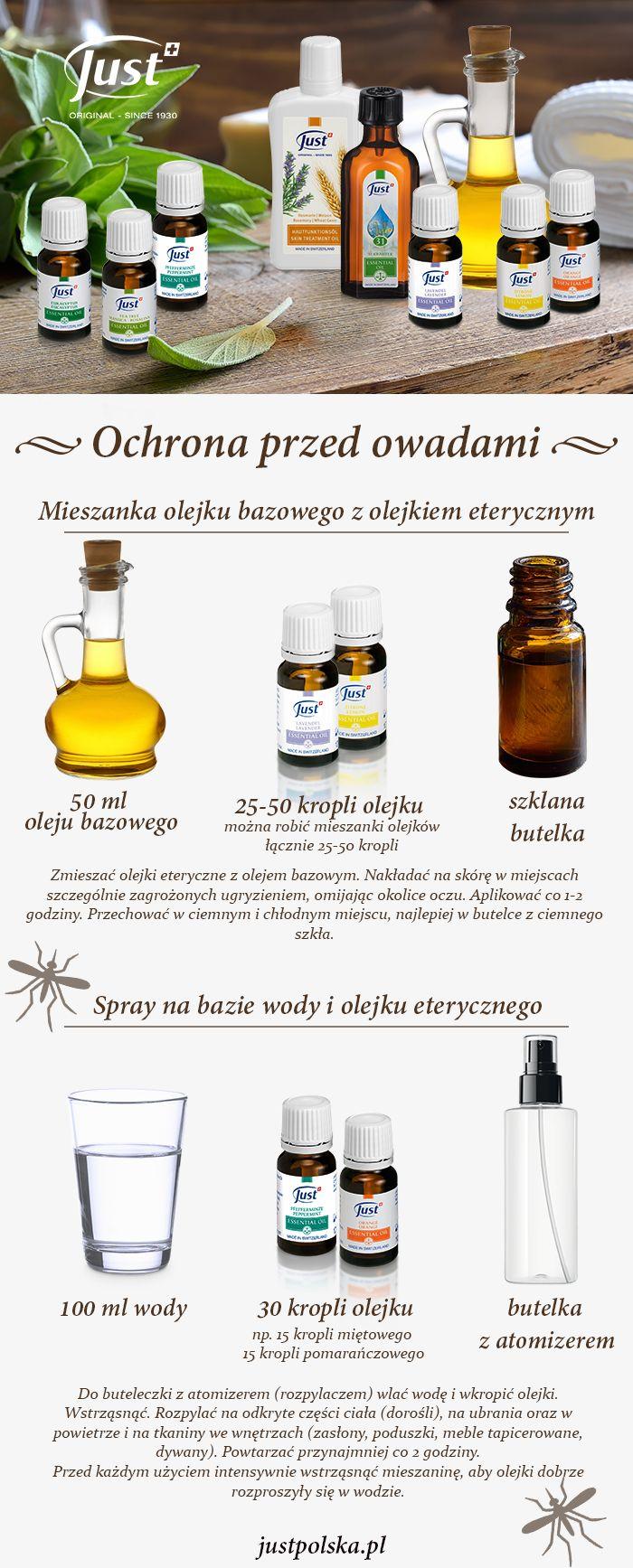 #olejki #eteryczne #diy #komary #sposób #just #polska #justpolska Szukasz sposobów na walkę z komarami, kleszczami w okresie letnim? Zobacz jakie olejki eteryczne polecamy: Olejek eukaliptusowy 10 ml: komary,  Olejek lawendowy 10 ml: komary, mole, muchy, pajęczaki, gryzonie  Olejek miętowy 10 ml: komary, pająki, mrówki Olejek z drzewa herbacianego 10 ml: komary, kleszcze Olejek cytrynowy 10 ml: komary, mole, muchy, mrówki. Olejek pomarańczowy: komary Olejek tymiankowy 10 ml: meszki