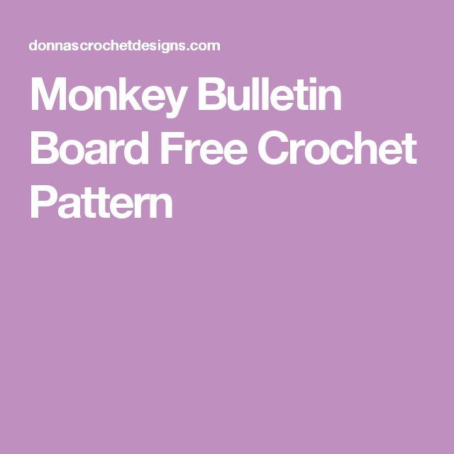 Monkey Bulletin Board Free Crochet Pattern